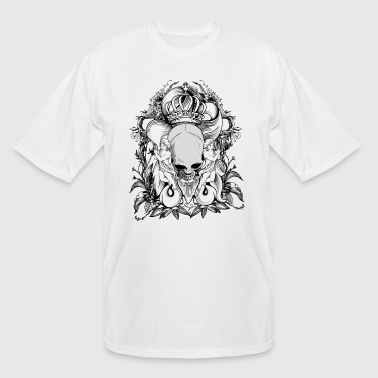 King skull and angels - Men's Tall T-Shirt