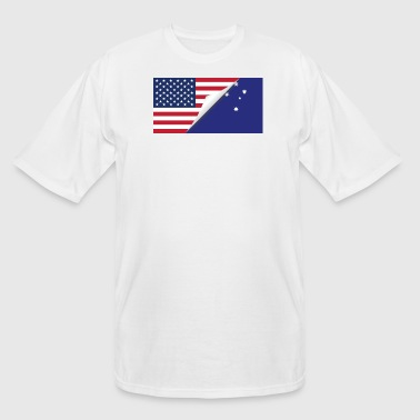 Half American Half Australian Flag - Men's Tall T-Shirt