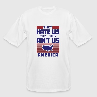 America - They Hate Us Cuz They Ain't Us - Ameri - Men's Tall T-Shirt