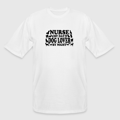 Nurse - Nurse By Day Dog Lover By Night - Men's Tall T-Shirt