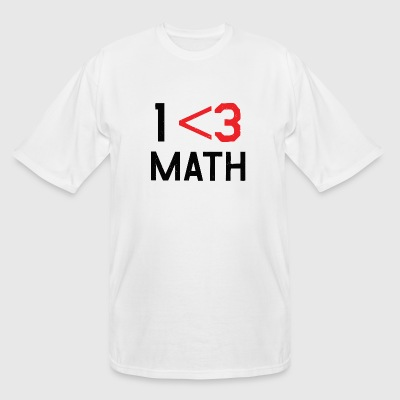 Math - Less Than 3 - Men's Tall T-Shirt