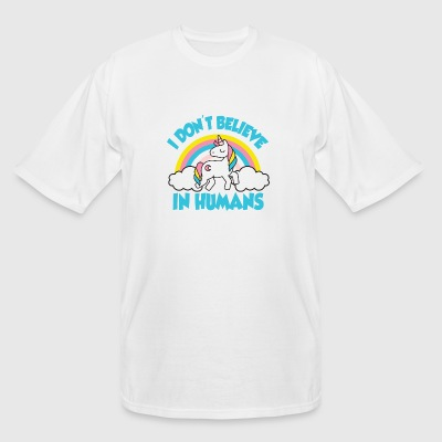 Unicorn - Unicorns - I don't believe in humans! - Men's Tall T-Shirt