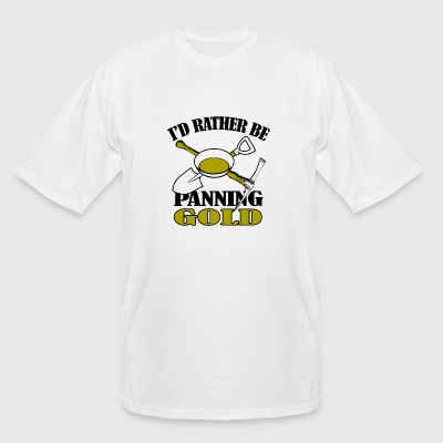 Gold - i'd rather be panning gold - Men's Tall T-Shirt