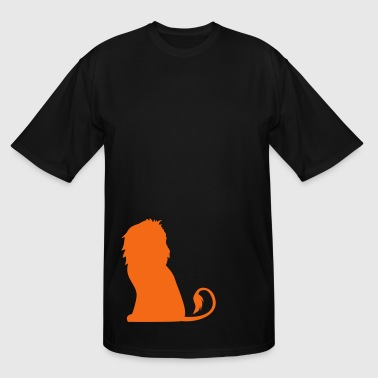LION passant sitting royalty king of the jungle - Men's Tall T-Shirt