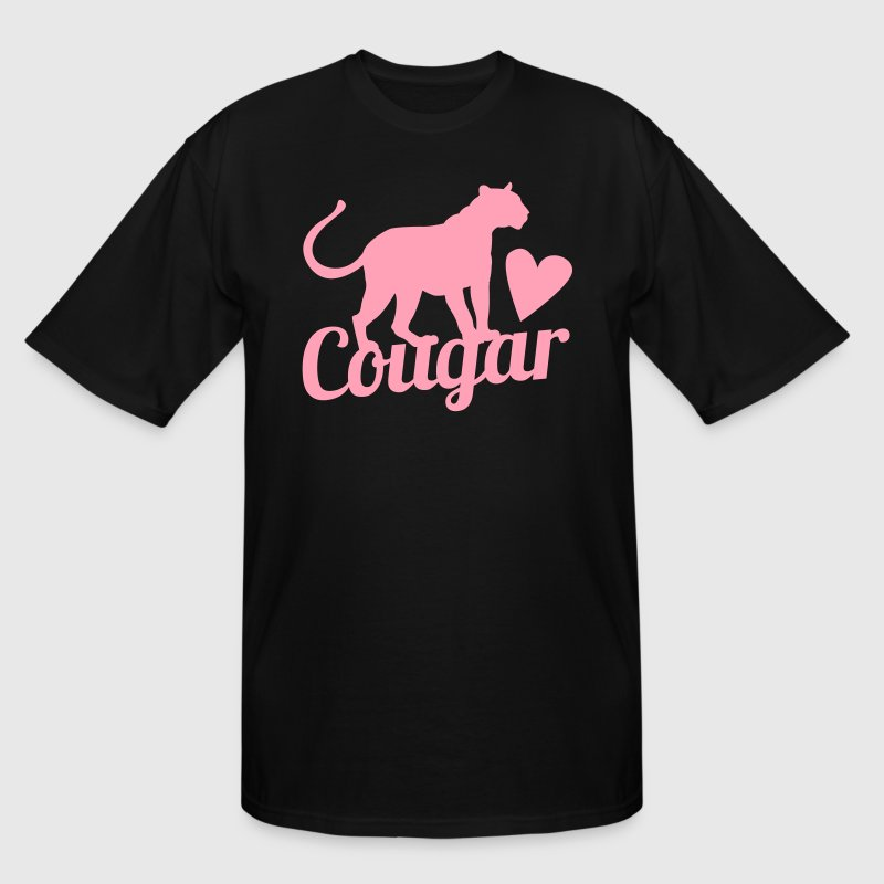 cougar in pink with beautiful panther - Men's Tall T-Shirt