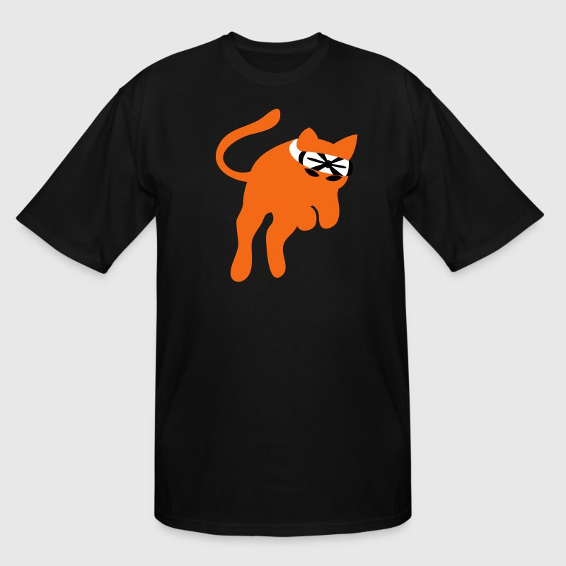 Don't mess with the KARATE kung-fu CAT - Men's Tall T-Shirt