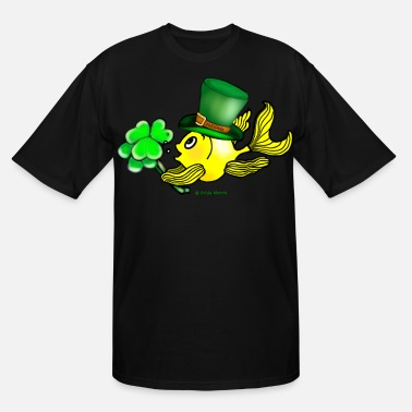 St Patrick Fish St Patricks Fish, Goldfish , Fabspark , holding S - Men's Tall T-Shirt