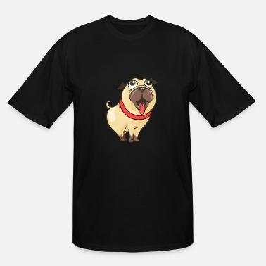 Funny Cute Cool Woof Funny Cute PUG Bulldog Dog - Men's Tall T-Shirt
