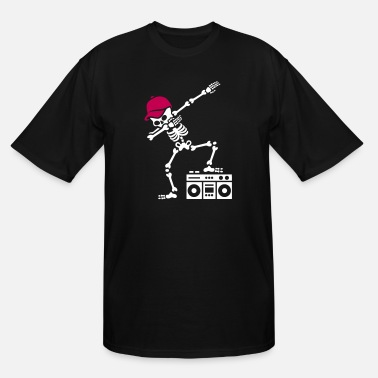 Ghetto Blaster Dab dabbing skeleton boombox - Ghetto blaster - Men's Tall T-Shirt