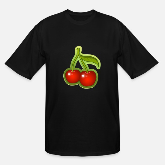 Cherry T-Shirts - Cherry - Men's Tall T-Shirt black