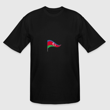 Azerbaijan Baku Flag Banner Flags Ensigns - Men's Tall T-Shirt
