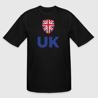 Manchester United Logo National Flag Of The United Kingdom - Men's Tall T-Shirt