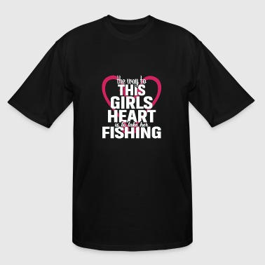 Fish Girl Fishing Shirts For Girls | Fishing Girls - Men's Tall T-Shirt