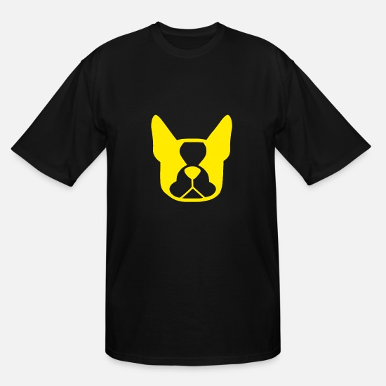 Science Student T-Shirts - Funny Dog Head (Yellow) - Men's Tall T-Shirt black