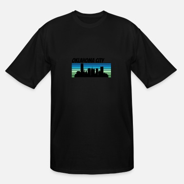 Retro City Retro Oklahoma City Skyline - Men's Tall T-Shirt