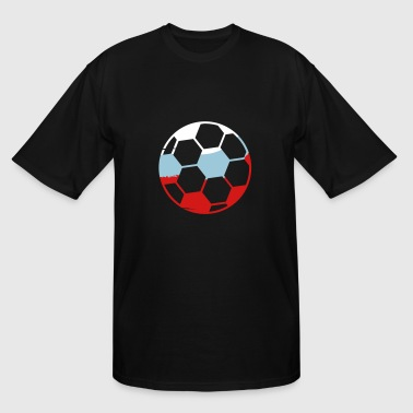russia russia silhouette fan celebrate party ball - Men's Tall T-Shirt