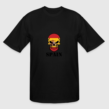 Spain Spanish Spanish Flag Skull Spain - Men's Tall T-Shirt