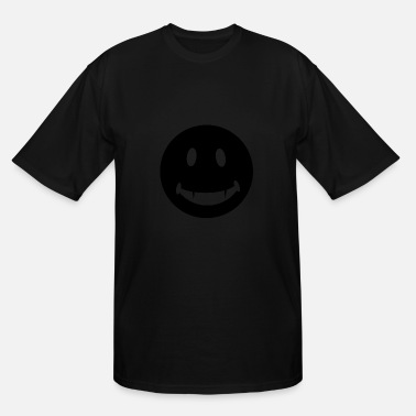 Fang-face Funny Happy Face T Shirt Smiley Face With Fangs Te - Men's Tall T-Shirt