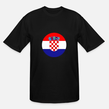 Usta zastava Hrvatska flag Croatia - Men's Tall T-Shirt