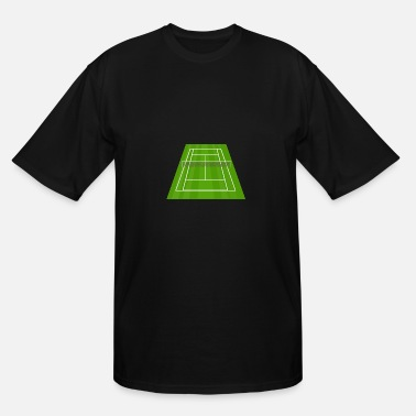 Tennis Court Tennis Court/ Tennis Net/ Court Sport - Men's Tall T-Shirt