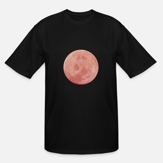 Eclipse T-Shirts - Total Lunar Eclipse Blood Moon Shirt Full Moon red - Men's Tall T-Shirt black