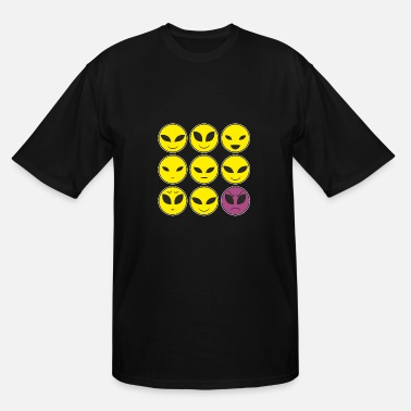Facial Expressions Funny Alien Heads And Facial Expressions Pattern - Men's Tall T-Shirt