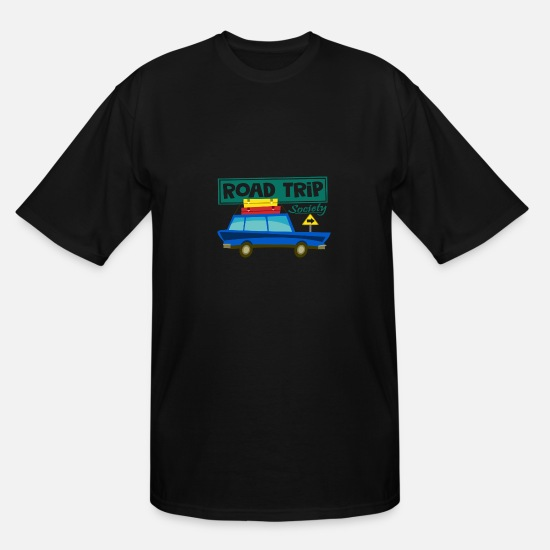 Gift Idea T-Shirts - road trip - Men's Tall T-Shirt black