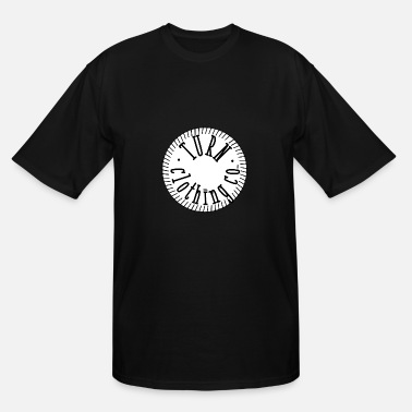 White Label Designer turn clothing co white circle converted to outline - Men's Tall T-Shirt