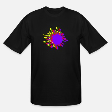 Splash Drop Ink Splash With Drops Multicolor - Men's Tall T-Shirt