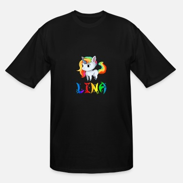 Lina Lina Unicorn - Men's Tall T-Shirt