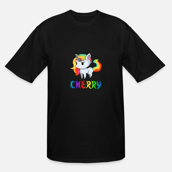 Cherry Blossom T-Shirts - Cherry Unicorn - Men's Tall T-Shirt black