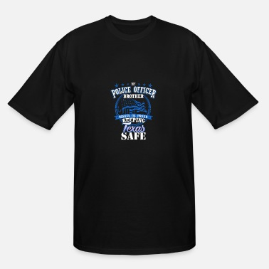Brother Texas Police Officer Brother Family Present Gift - Men's Tall T-Shirt