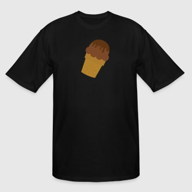 Ice Cream Cones Chocolate Ice Cream with Chocolate Fudge - Men's Tall T-Shirt