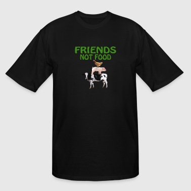 Vegan Kid FRIENDS NOT FOOD - Men's Tall T-Shirt
