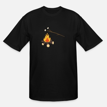 Campfire Marshmallow Campfire with marshmallows - Men's Tall T-Shirt