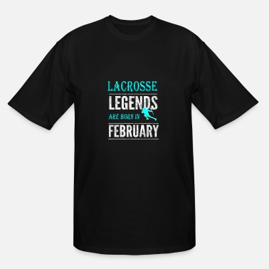 Boys Lacrosse Lacrosse Legends are born in February Boys - Men's Tall T-Shirt