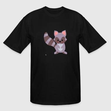 cute raccoon baby design - Men's Tall T-Shirt