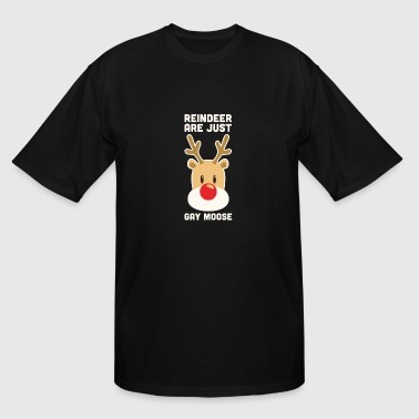 Christmas Gay Reindeer Are Just Gay Moose Christmas Gay Pride - Men's Tall T-Shirt