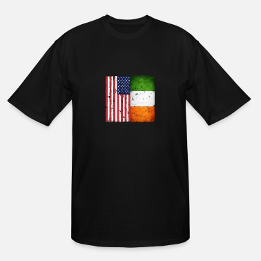 Retro Irish Retro American Irish gift design - Men's Tall T-Shirt