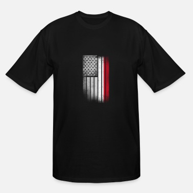 Funny Indonesia Indonesian American Flag - Men's Tall T-Shirt