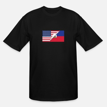 Haitian Proud Half American Half Haitian Flag - Men's Tall T-Shirt