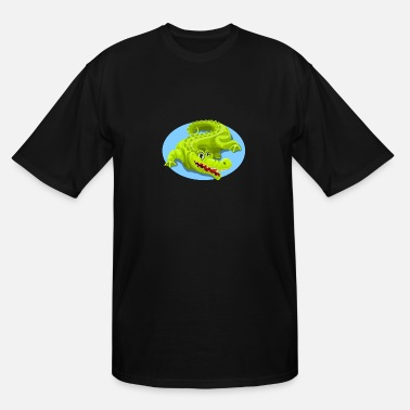 Crocodile Dundee Cartoon Crocodile Vector Design 2 - Men's Tall T-Shirt