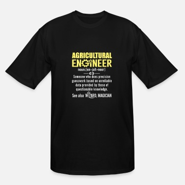 Agricultural Agricultural Engineer Noun Shirt Funny Definition - Men's Tall T-Shirt