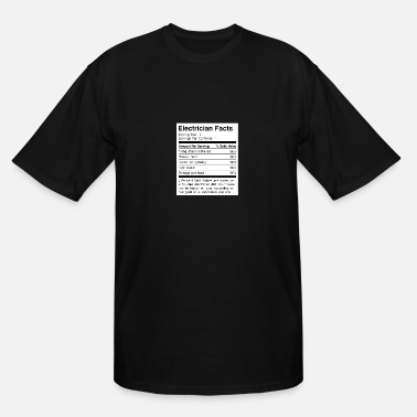 Apprentice Electrician Funny Electrician Facts - Men's Tall T-Shirt