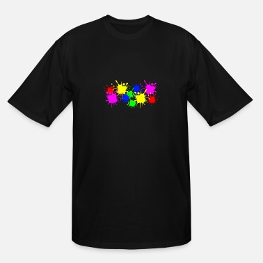 Color Splashes of color splashes of color color color du - Men's Tall T-Shirt
