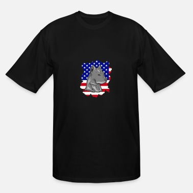 PITBULL DOG BREED GIFT INDEPENDENCE DAY 4TH JULY - Men's Tall T-Shirt