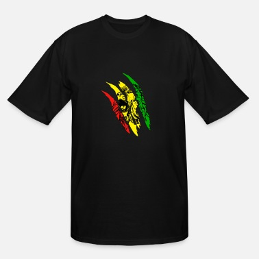 Reggae Lion Of Judah Lion Of Judah - Reggae Music Rastafari Rasta Gift - Men's Tall T-Shirt