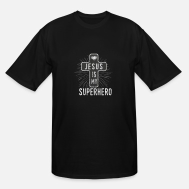 Hero Jesus is my superhero - Men's Tall T-Shirt