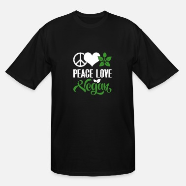 Peace Love Veggies Peace Love Vegan - Men's Tall T-Shirt