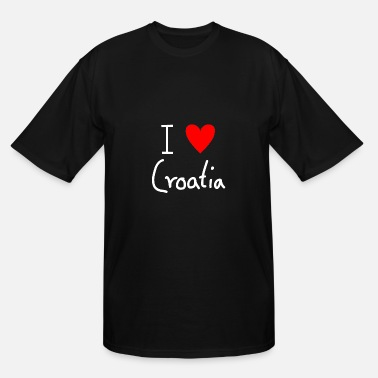 I Love Croatia I Love Croatia - Men's Tall T-Shirt